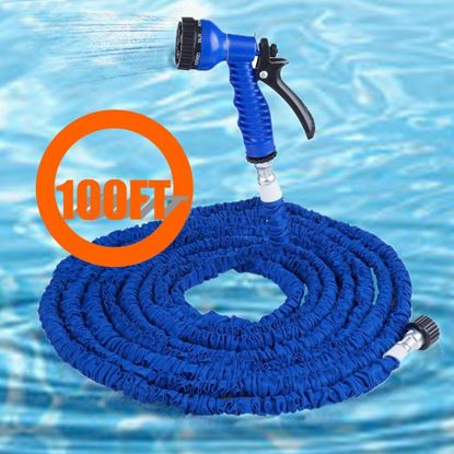 Picture of 100FT Expandalble Garden Hose Water Pipe with 7 Modes Spray Gun