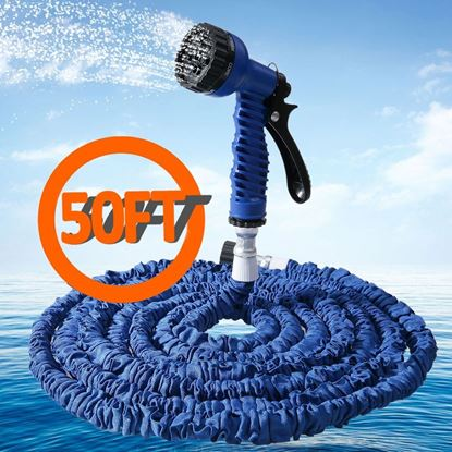 Picture of 50FT Expandalble Garden Hose Water Pipe with 7 Modes Spray Gun