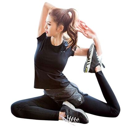 Picture of Yoga Fitness Elastic Sheath Ninth Pants for Women