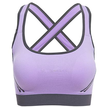 Picture of Active U-Neck Color Block Criss-Cross Gym Wear Crop Top for Women