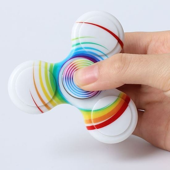 Picture of Anti-stress Toy Plastic Patterned Fidget Spinner