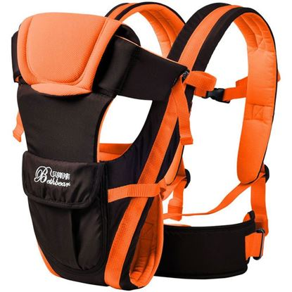 Picture of Bethbear Multipurpose Adjustable Buckle Mesh Wrap Baby Carrier Backpack - Orange