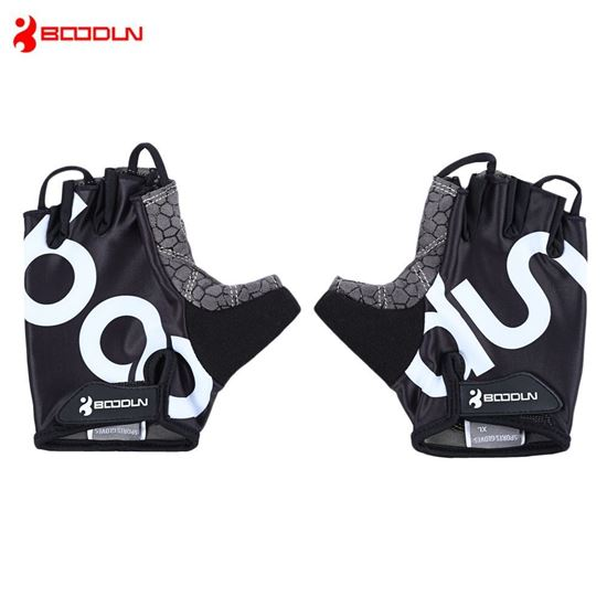 Picture of BOODUN 2140018 Paired Men Women Anti-slip Half Finger Gloves for Cycling Gym Sport