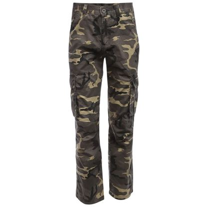Picture of Casual Camouflage Embellishment Outdoor Male Multi-pocket Straight Pants - Light Green