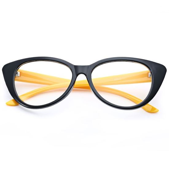 Picture of Classical Sexy  Plain Cat Eye Frame Spectacle Eyeglasses - Black
