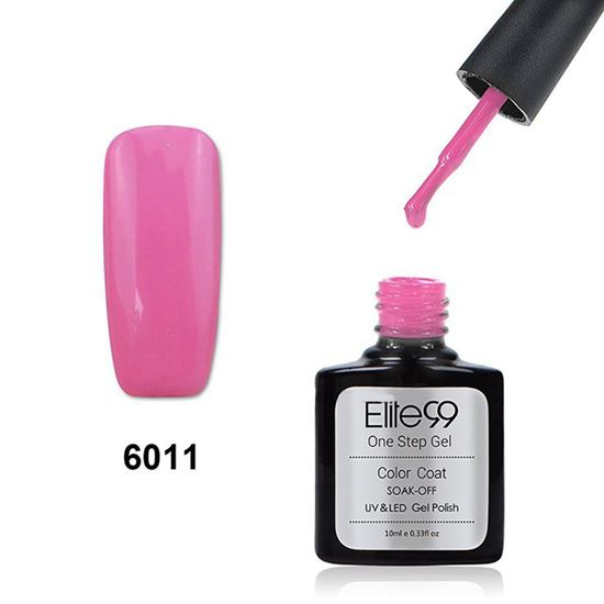 Picture of Elite99 60 Candy Colors Long-Lasting Varnish Top Coat Nail Polish 10ml - Deep Pink