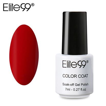 Picture of Elite99 Professional 7ml Colorful DIY UV Gel Curing Lamp Nail Polish - Red