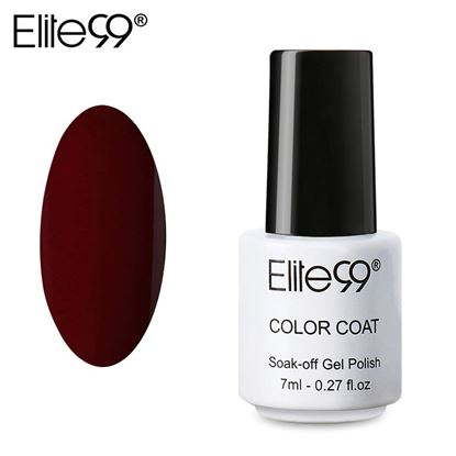 Picture of Elite99 Professional 7ml Colorful DIY UV Gel Curing Lamp Nail Polish - Dark Marun