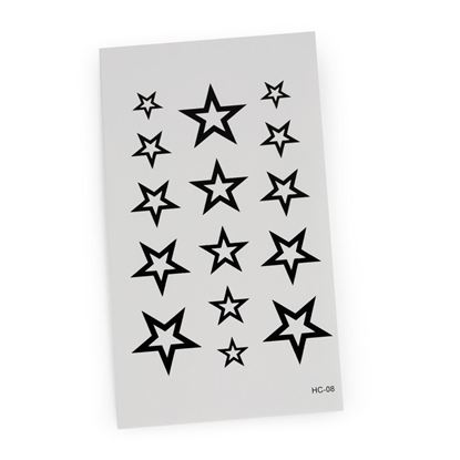 Picture of Fashion Body Art Stickers Star Pattern Waterproof Temporary Tattoo