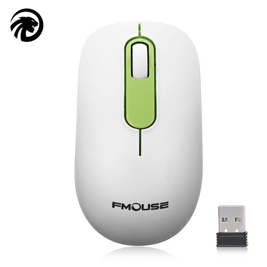 Picture of FMOUSE 1200DPI Ergonomic Design  2.4GHz Wireless Mouse - White