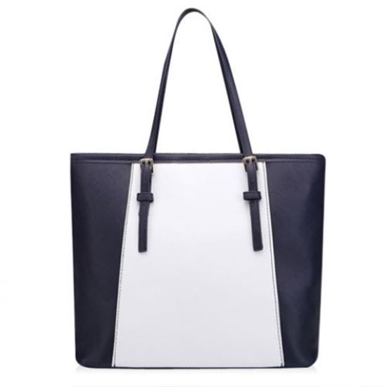Picture of Casual Color Matching and PU Leather Design Women's Shoulder Bag