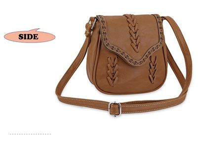 Picture of Guapabien Trendy Knitting Diagonal Package Hollow Shoulder Bag for Ladies