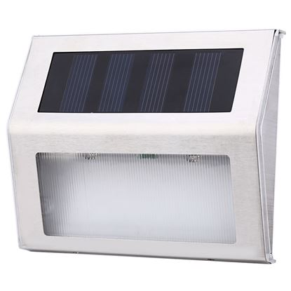 Picture of Outdoor Solar Powered 2 LEDs Night Light Energy Saving Lamp for Garden Pathway Stairs