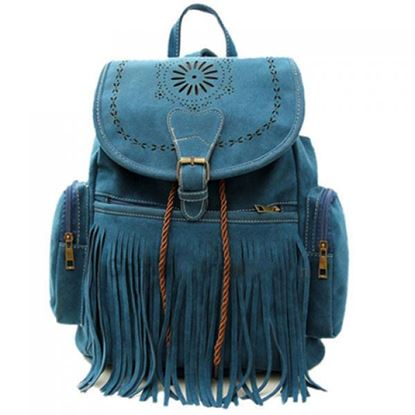 Picture of Retro Engraving and Fringe Design Women's Satchel