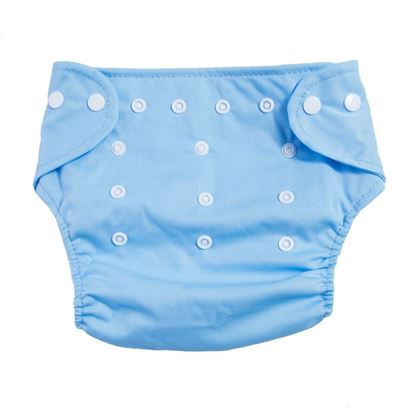 Picture of Reusable Adjustable Elastic Washable Soft Mesh Cloth Diaper for Babies