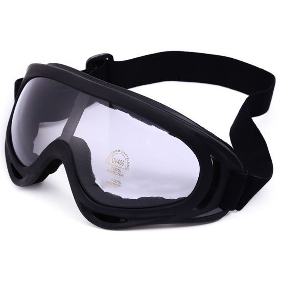 Picture of Robesbon Non-polarized Sports Running Outdoor Cycling Motocross Goggles UV400 Protection Sunglasses - Transparent